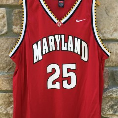 2001-02 Steve Blake University of Maryland Terrapins Nike NCAA basketball jersey size XXL