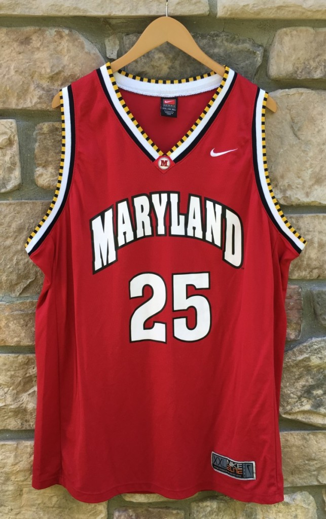 2001 02 Steve Blake University Of Maryland Terrapins Nike NCAA Basketball Jersey Size XXL