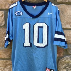 90's #10 North Carolina Nike NCAA football jersey size medium mitch trubisky