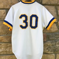 game worn early 90's Wilmington Blue Rocks Minor League baseball jersey #30 Rawlings size 46