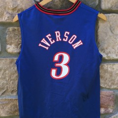 vintage allen iverson philadephia sixers champion NBA jersey youth size large