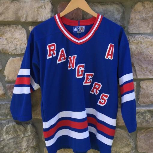 90's Wayne Gretzky new York rangers starter NHL hockey jersey youth size large/XL