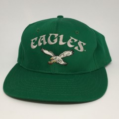 early 90's Philadelphia Eagles Kelly green AJD NFL snapback hat