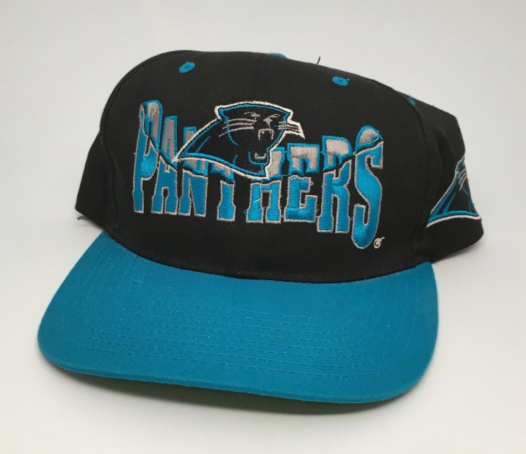 5b712306e20 90 s Carolina Panthers vintage NFL snapback hat