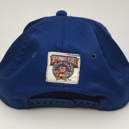 90's Jeff Gordon 24 Nascar snapback hat blue red 50th anniversary