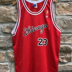 1997 Chicago Bulls Michael Jordan Champion NBA jersey size 48 XL 1985 Gold logo rookie jersey