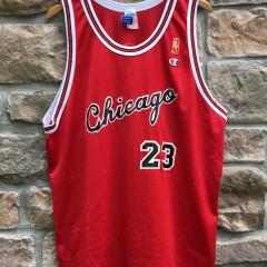 1997 Chicago Bulls Michael Jordan Champion NBA jersey size 48 XL 1985 Gold logo rookie jersey