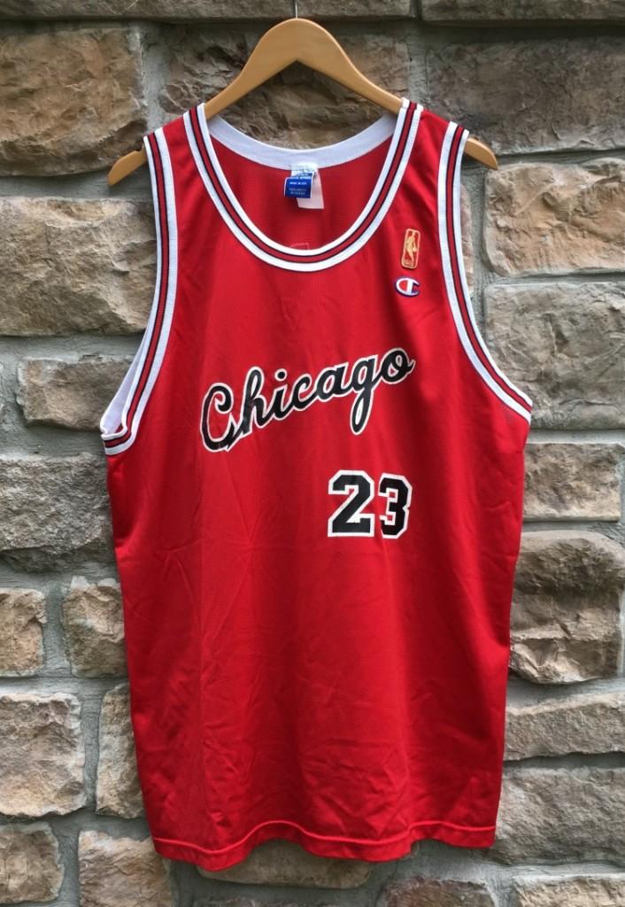 b50a239b8a4 ... reduced 1997 chicago bulls michael jordan champion nba jersey size 48  xl 1985 gold logo rookie