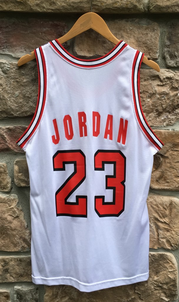 huge discount df5f5 eacc9 1991 Michael Jordan Chicago Bulls White Champion NBA Jersey Size 40
