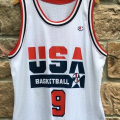 original vintage 1992 Michael Jordan Team USA dream team champion basketball jersey size 44 large
