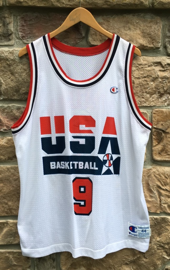 77c451b2d1c original vintage 1992 Michael Jordan Team USA dream team champion  basketball jersey size 44 large