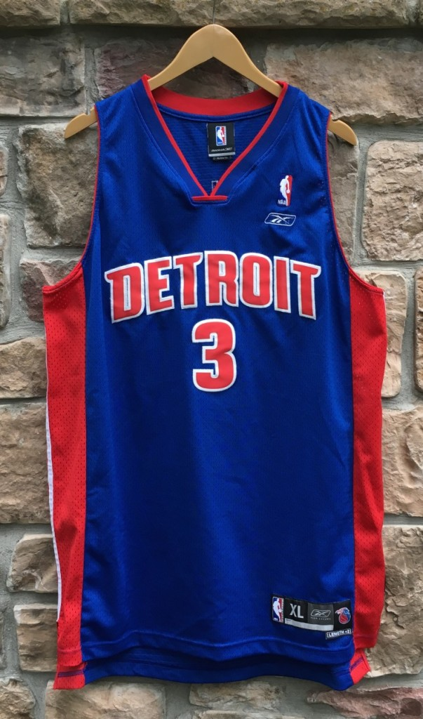new product ab089 52467 2004 Ben Wallace Detroit Pistons Reebok Swingman NBA Jersey Size XL