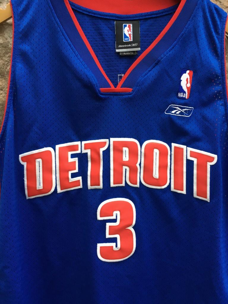 2004 Ben Wallace Detroit Pistons Reebok Swingman NBA Jersey Size XL ... ab2a20a1f