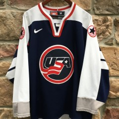 1998 Team USA Nagano Olympics Nike hockey jersey navy blue size medium