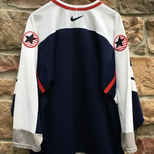 1998 Team USA Nagano Olympics Nike hockey jersey navy blue size medium