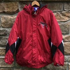 vintage 90's Temple University Owls Starter NCAA jacket size XXL