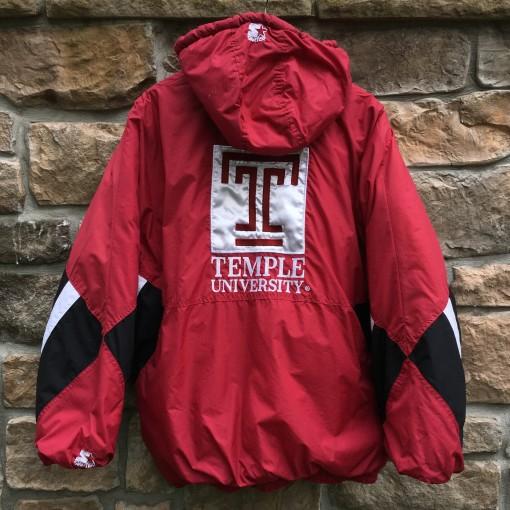 vintage 90's Temple University Owls Starter NCAA jacket size XXL