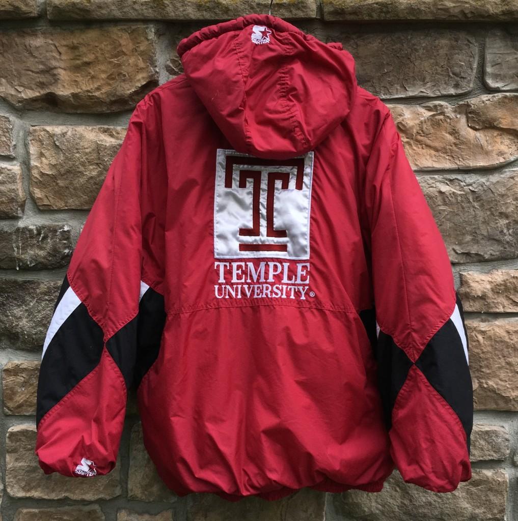 new style 5553a 0c3d1 90's Temple University Owls NCAA Starter Jacket Size XXL