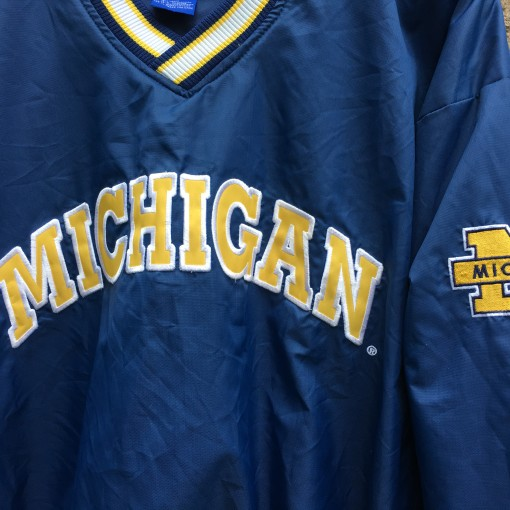 90's University of Michigan Wolverines Starter Fab 5 Windbreaker jacket size large