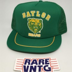 vintage 80's Baylor Bears NCAA snapback trucker cap
