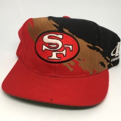 90's San Francisco 49ers paint splash logo athletic NFL snapback hat