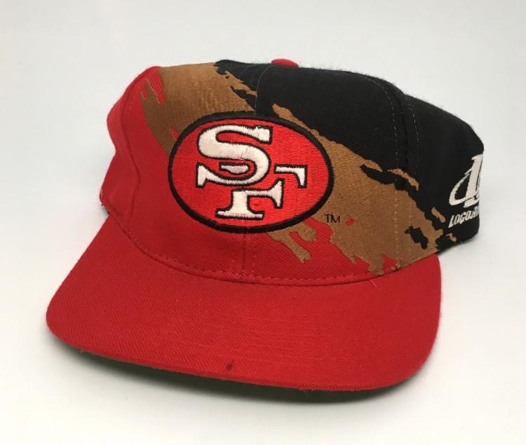 b0f26430a4862 90 s San Francisco 49ers paint splash logo athletic NFL snapback hat