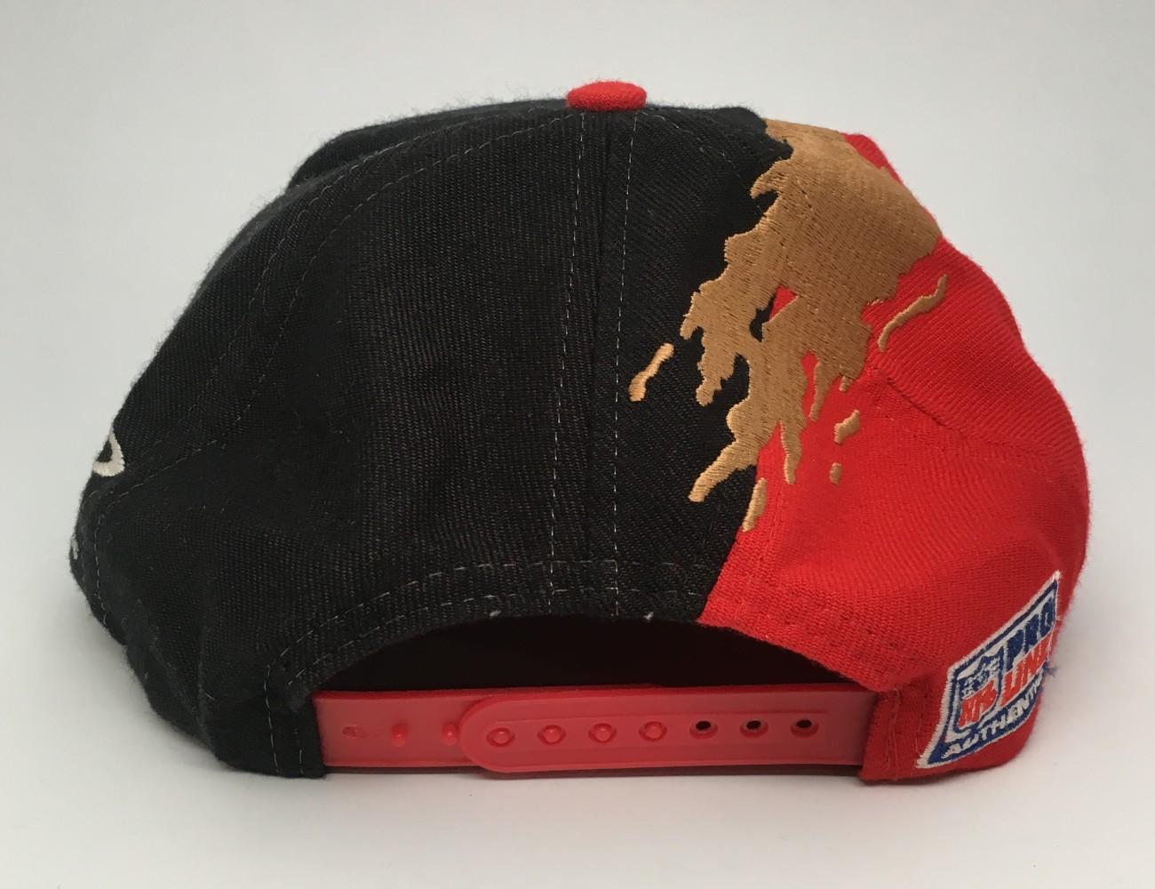 90 s San Francisco 49ers paint splash logo athletic NFL snapback hat 7225f6a5f