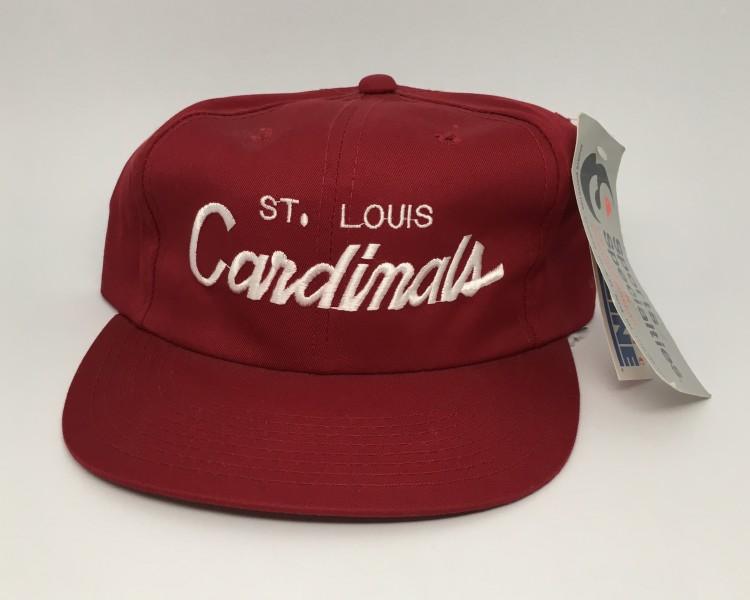 927dd8aa7456b 80 s St. Louis Cardinals Sports Specialities Script NFL Snapback Hat ...