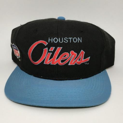 vintage 90's Houston Oilers Sports Specialties Script snapback hat