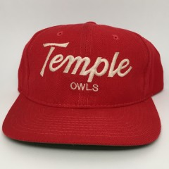 vintage 90's Temple Owls Sports Specialties Script snapback hat NCAA
