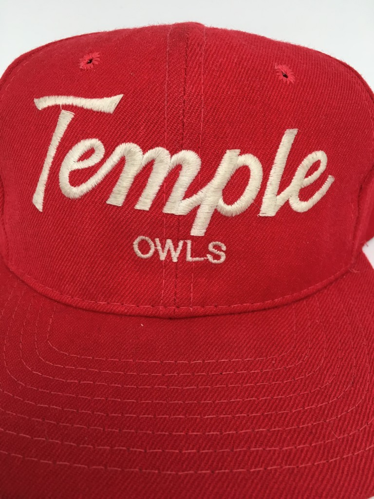 new styles 985c0 1ccaf ... netherlands vintage 90s temple owls sports specialties script snapback  hat ncaa 5d834 5a2c3