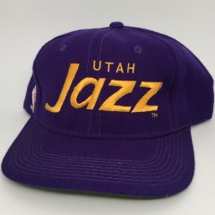early 90's Utah Jazz Sports Specialties Script snapback hat