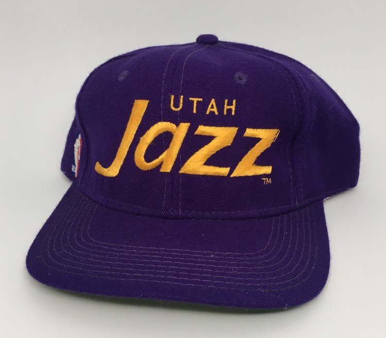 lowest price 1c0ac 45beb ... clearance early 90s utah jazz sports specialties script snapback hat  9a5fd 4f35a