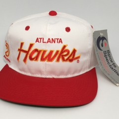 90's Atlanta Hawks Sports Specialties NBA Script snapback hat