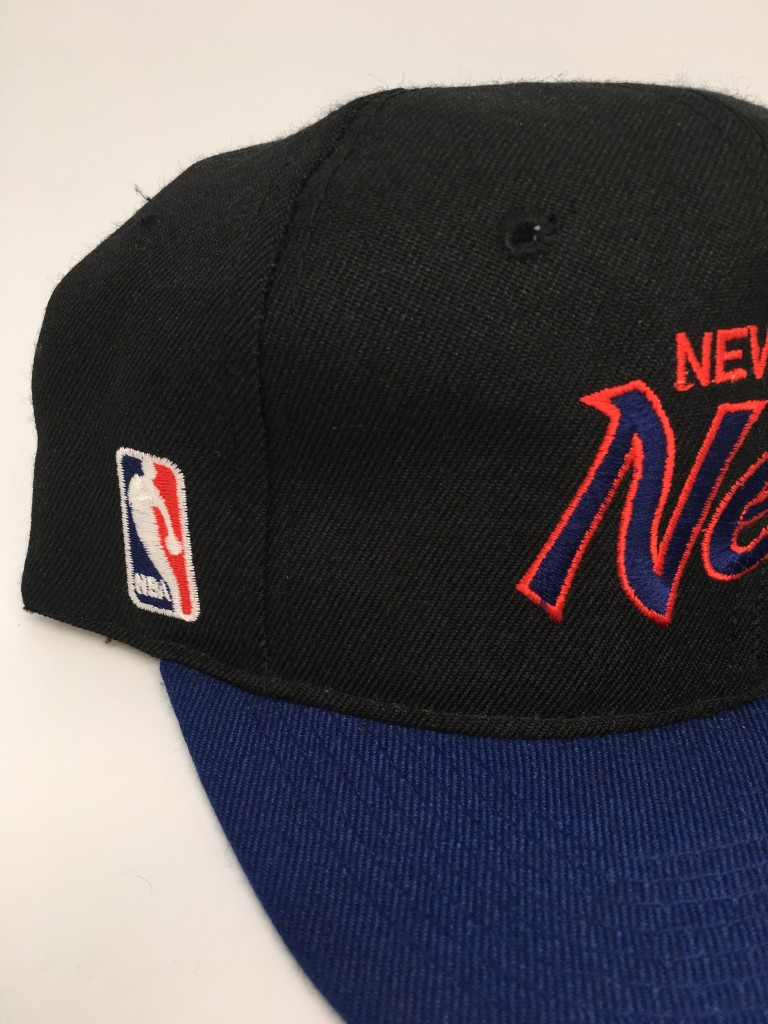 c0474ce57be49 90 s New Jersey Nets Sports Specialties Script NBA Snapback Hat ...