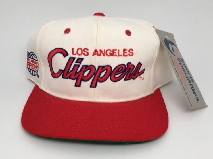 c89324a95616c9 90's Los Angeles Clippers Sports Specialties Script NBA Snapback Hat ...