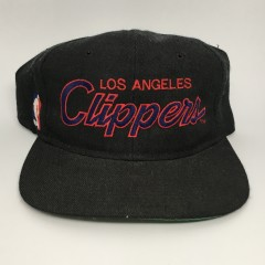 90's Los Angeles Clippers NBA sports specialties script snapback hat  black