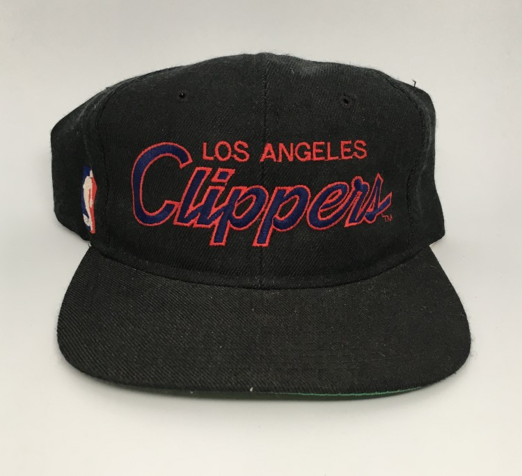 5cf4cecef24 90 s Los Angeles Clippers NBA sports specialties script snapback hat black