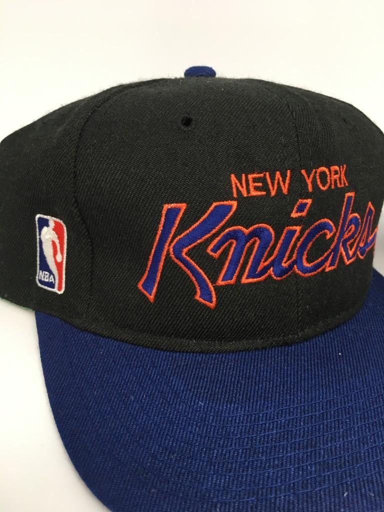 90 s New York Knicks Sports Specialties Script NBA snapback hat deadstock c6f425d3e603