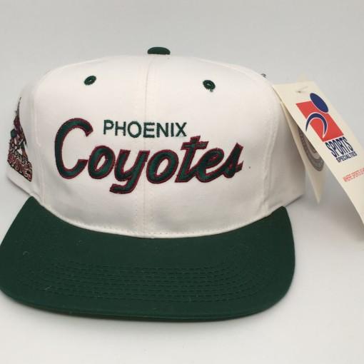 90's Phoenix Coyotes Sports specialties script snapback hat NHL deadstock