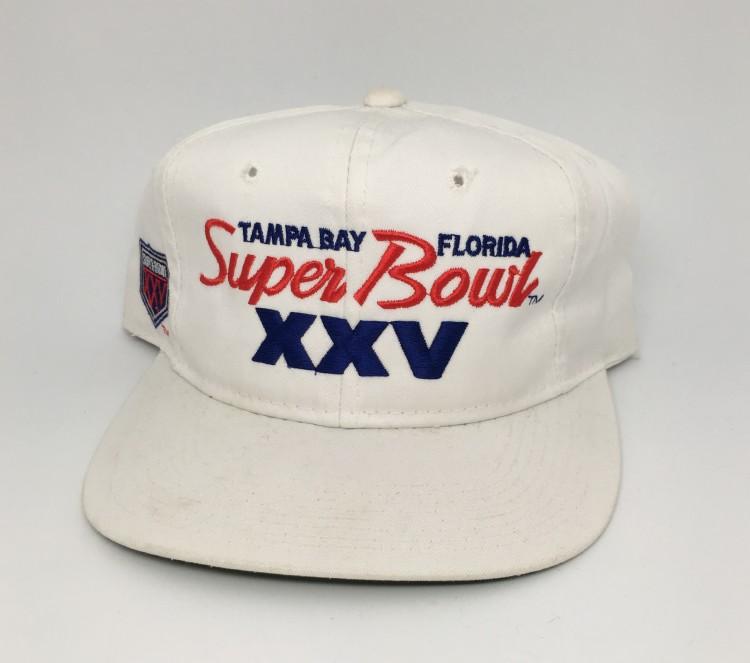 0f8260e3a635f 1991 Super Bowl XXV NFL Sports Specialties Script Snapback Hat ...