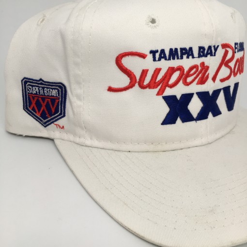 Super Bowl XXV Sports specialties script snapback hat nfl
