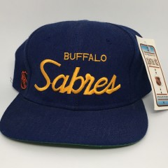 90's Buffalo Sabres Sports Specialties NHL Single line snapback hat deadstock