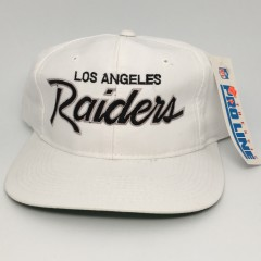 90's Los Angeles Raiders Sports Specialties Script snapback deadstock NFL