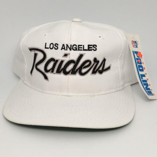 90's Los Angeles Raiders Sports Specialties Script snapback deadstock NFL