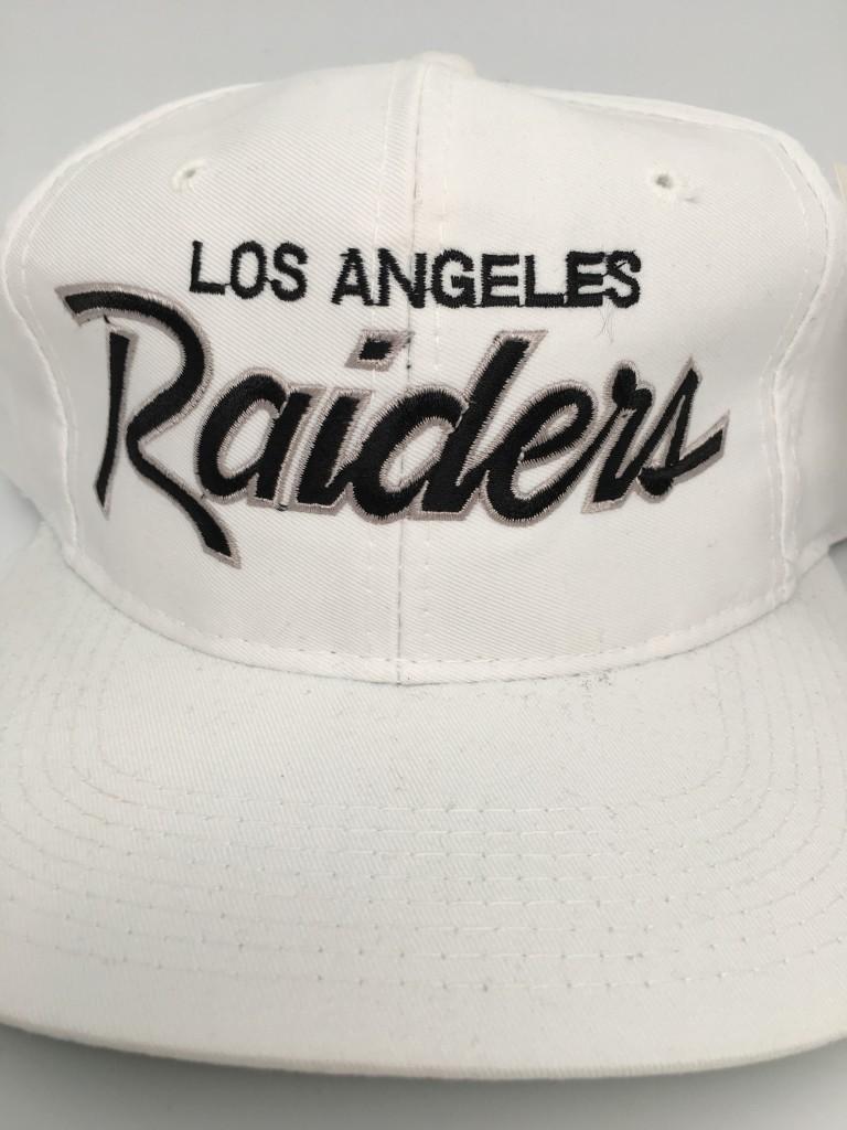 d44818a64a83d 90 s Los Angeles Raiders Sports Specialties Script snapback deadstock NFL