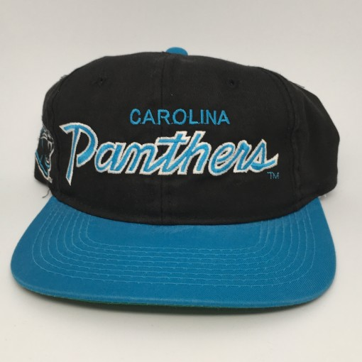 90's Carolina Panthers Sports Specialties Script NFL snapback hat