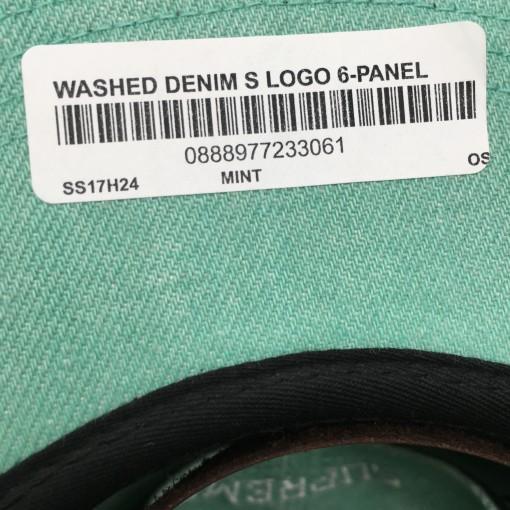 Supreme Washed Denim S Logo 6 Panel Hat mint Spring Summer 2017