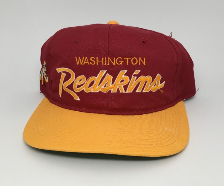 90 s Washington Redskins Sports Specialties Script NFL Snapback Hat ... d7a4c7142