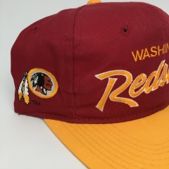 90's Washington Redskins Sports Specialties NFL Script snapback hat
